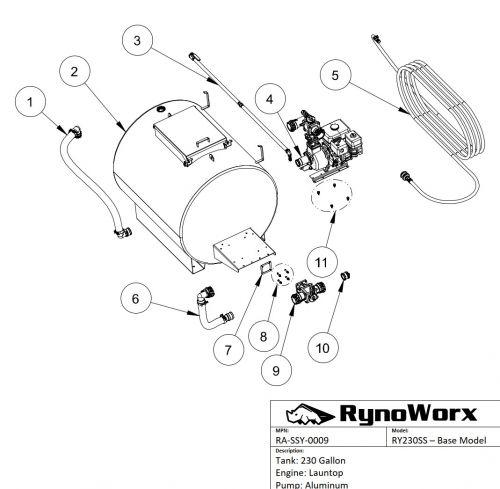 AK230 Spray System, Launtop Engine, Aluminum Pump Parts