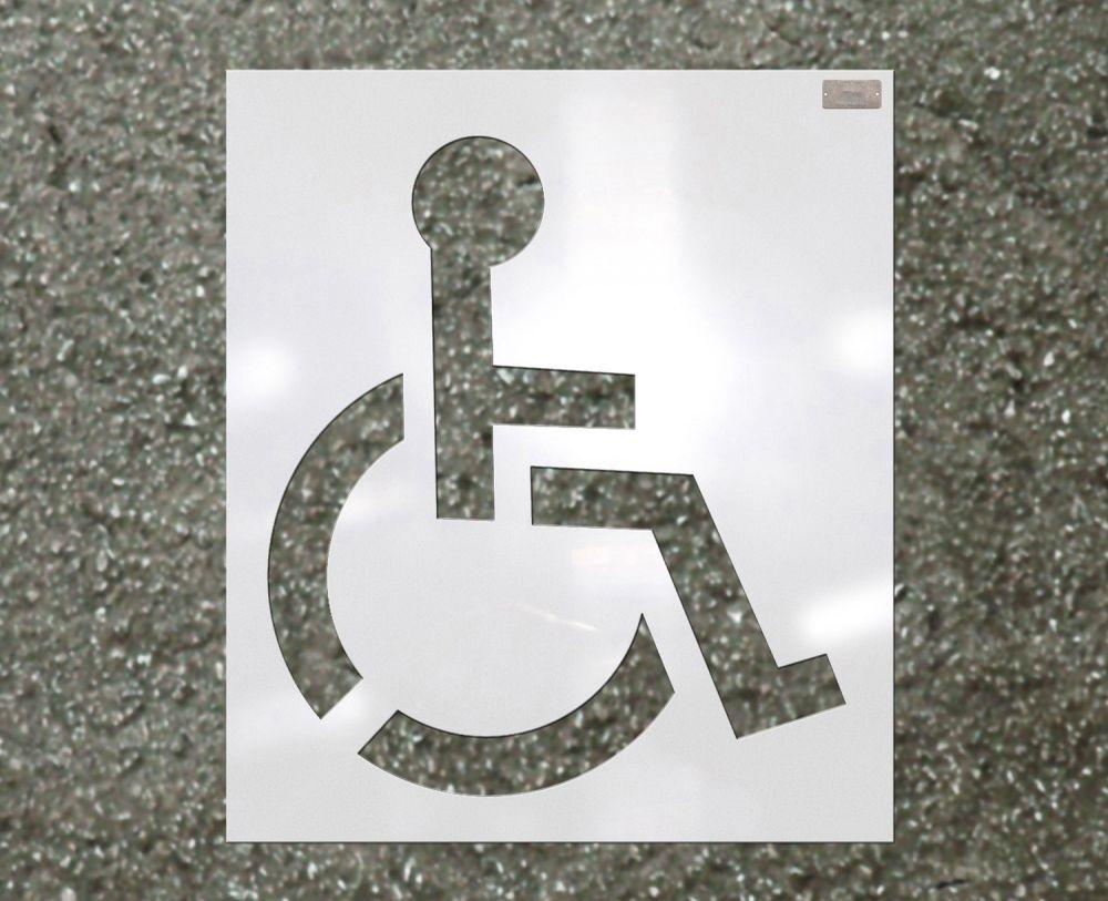 """Heavy Duty Handicap Stencil 39"""""""