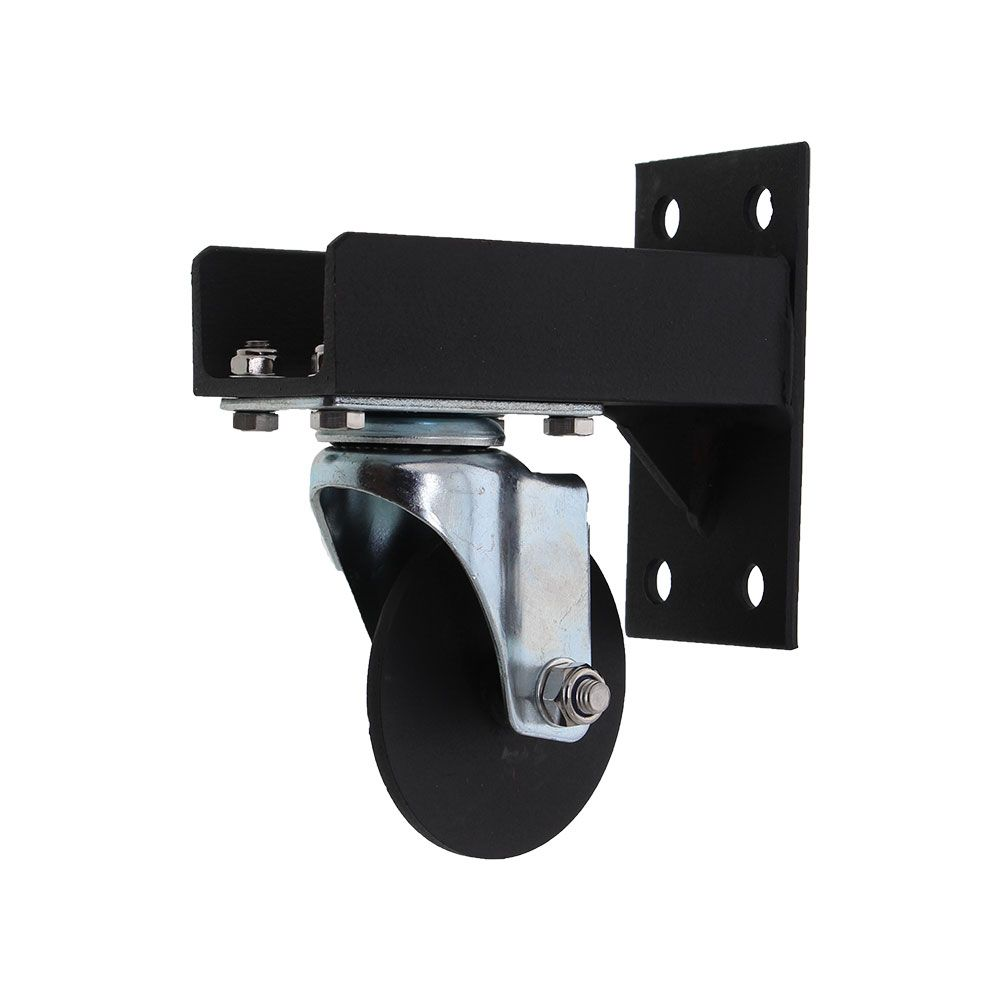 Caster Bracket with mounted Caster Sub-Assembly (Left)